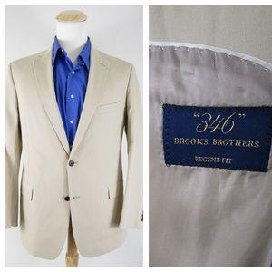 346 Brooks Brothers Beige Regent Fit Sport Coat